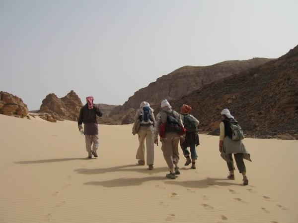 Wandern in der Wüste Sinai: Über den Sand in die Berge